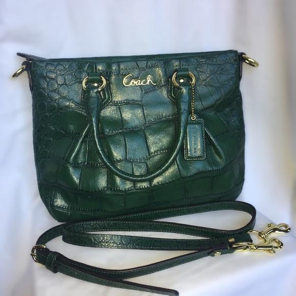 Coach Handbags - COACH Ashley Leather Embossed Croc Mini Tote 04ee116d75787